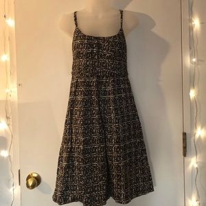 New York & Co. brown, black and white  mini dress